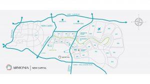 موقع ارمونيا العاصمة الادارية الجديدة